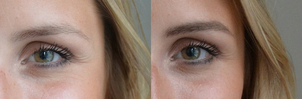 Before and after using Brow artist plumper